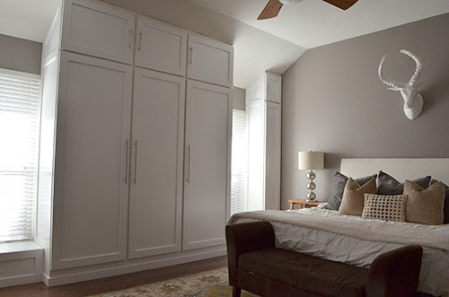 Best ideas about DIY Wall Closet . Save or Pin The Happy Homebo s REVEAL DIY Custom Built In Wardrobe Now.