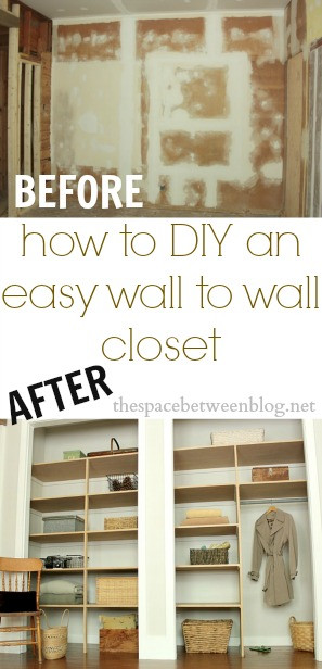 Best ideas about DIY Wall Closet . Save or Pin easy DIY wall to wall closet the space between Now.