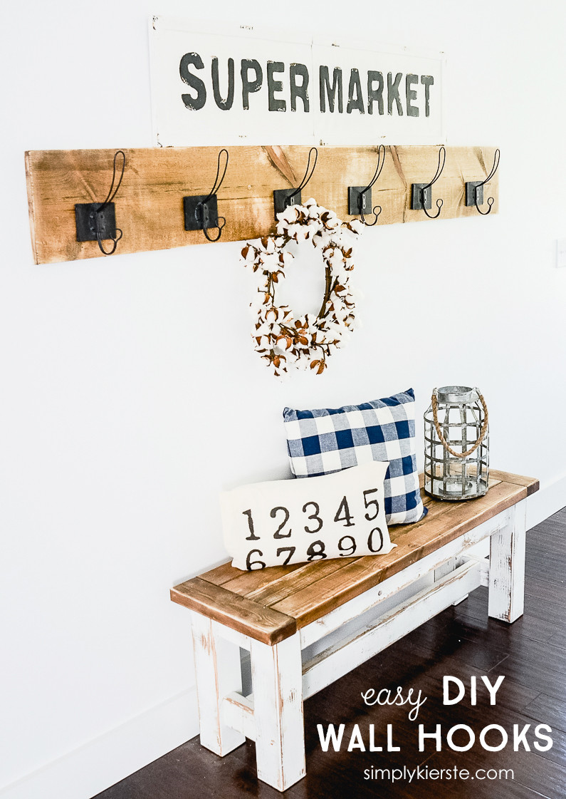 Best ideas about DIY Wall Hooks . Save or Pin Easy DIY Wall Hooks Simply Kierste Design Co Now.