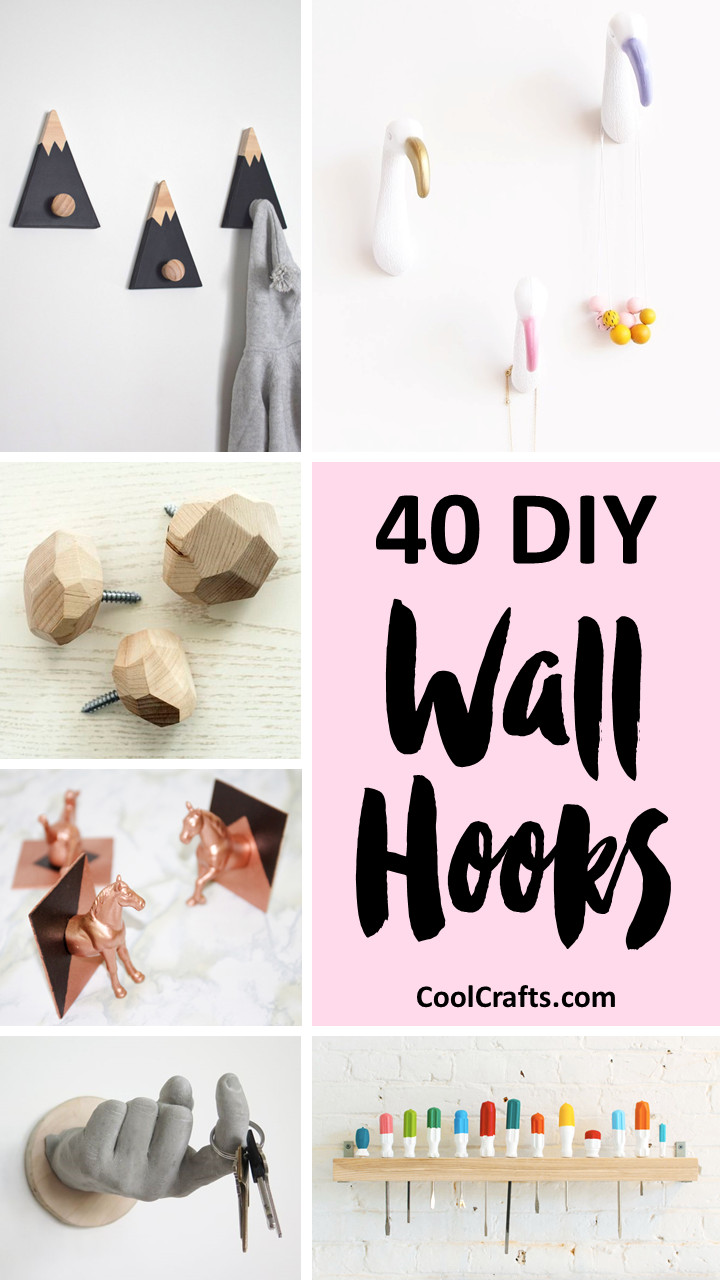 Best ideas about DIY Wall Hooks . Save or Pin 40 Decorative Wall Hooks That You Can Make Yourself • Cool Now.