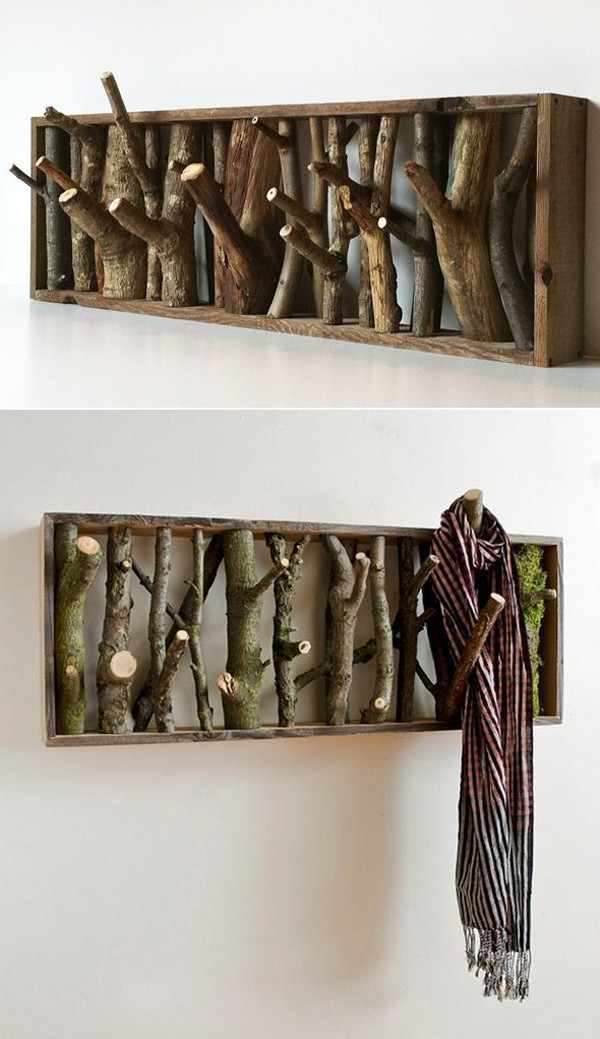 Best ideas about DIY Wall Hooks . Save or Pin 10 Coolest DIY Wall Hook And Coat Rack Ideas Now.