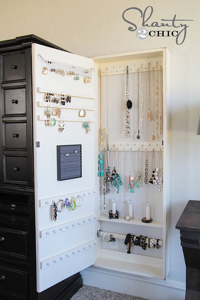 Best ideas about DIY Wall Jewelry Organizer . Save or Pin 11 Nifty DIY Ways To Organize Your Jewelry Now.