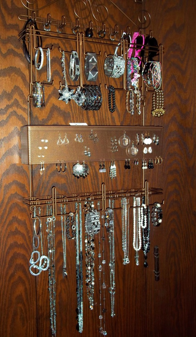 Best ideas about DIY Wall Jewelry Organizer . Save or Pin 36 Awesome Ideas of DIY Wall Jewelry Organizers Now.