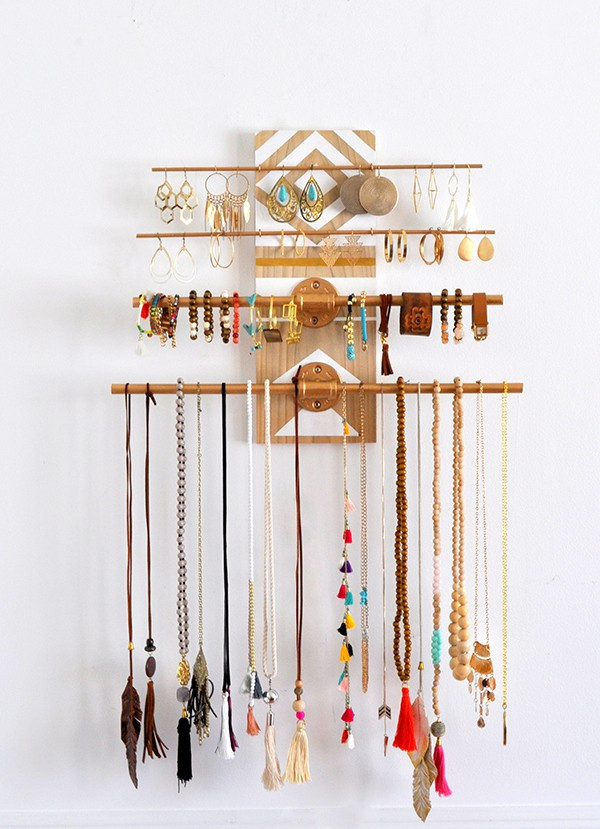 Best ideas about DIY Wall Jewelry Organizer . Save or Pin DIY Geometric Industrial Wall Jewelry Organizer • Made in Now.