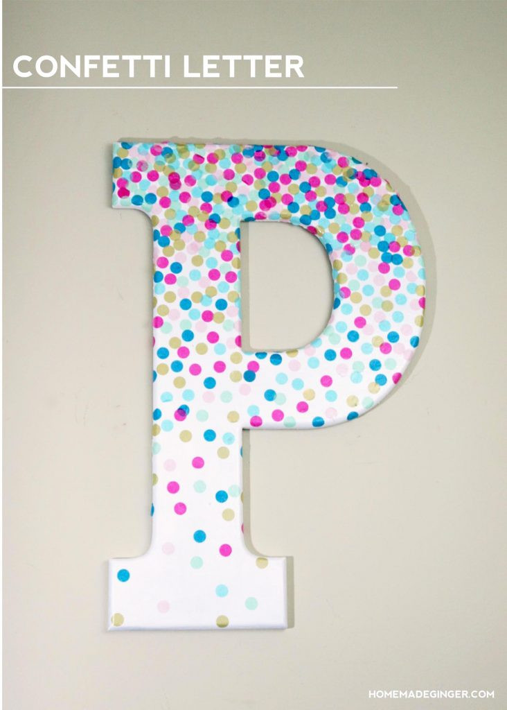Best ideas about DIY Wall Letters . Save or Pin DIY Wall Art Confetti Letter Homemade Ginger Now.