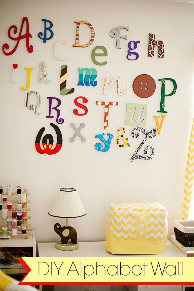 Best ideas about DIY Wall Letters . Save or Pin DIY Wooden alphabet wall letters tutorial playroom Now.