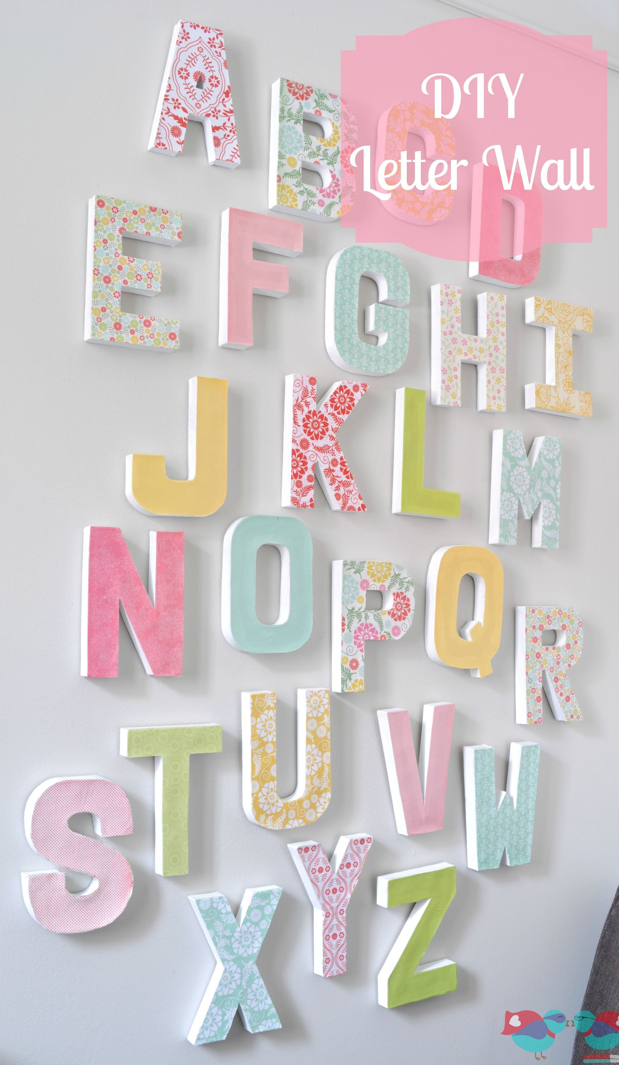 Best ideas about DIY Wall Letters . Save or Pin DIY LETTER WALL DECOR Craft with JOANN Now.