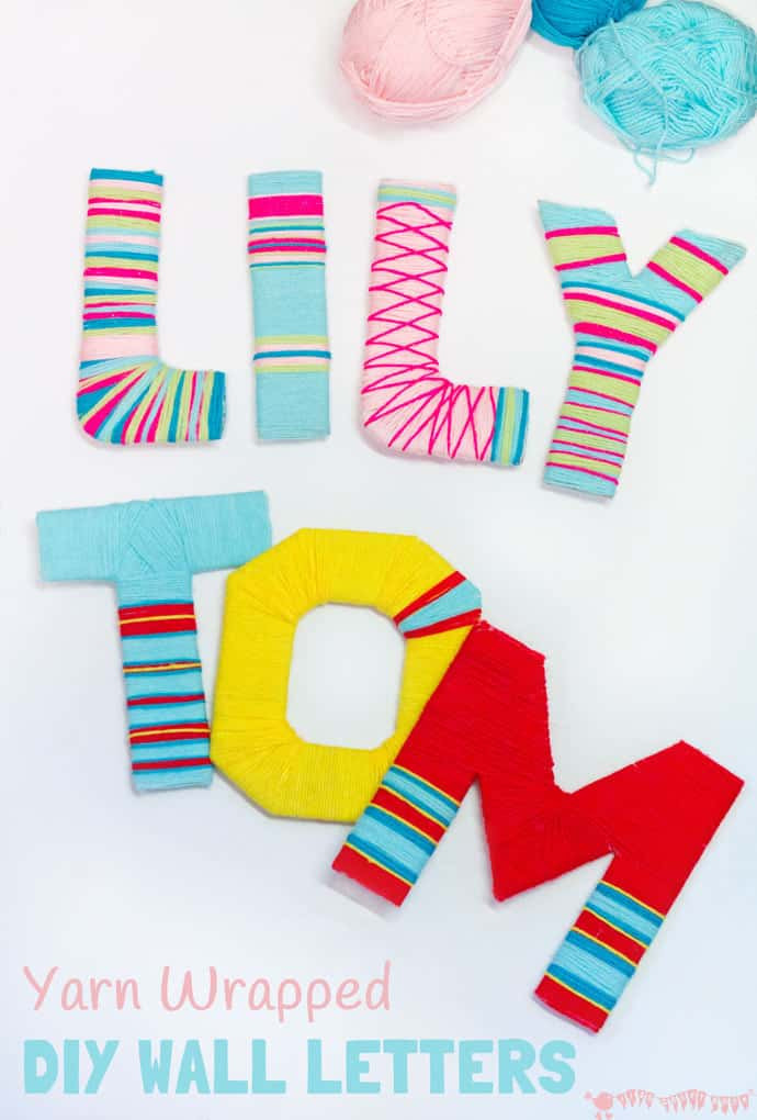 Best ideas about DIY Wall Letters . Save or Pin Yarn Wrapped DIY Wall Letters Kids Craft Room Now.