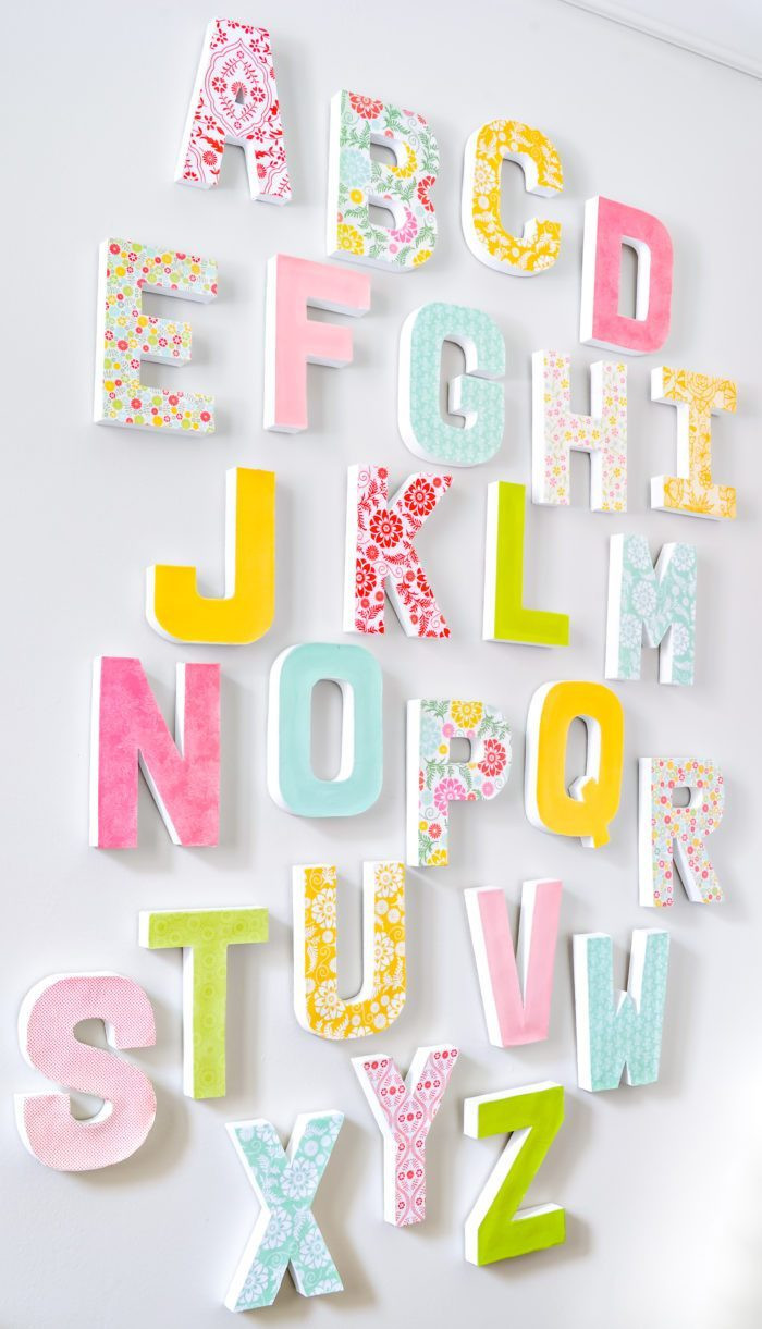 Best ideas about DIY Wall Letters . Save or Pin 27 Adorable DIY Gifts to Make for Baby Now.