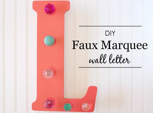 Best ideas about DIY Wall Letters . Save or Pin DIY Faux Marquee Wall Letter Now.