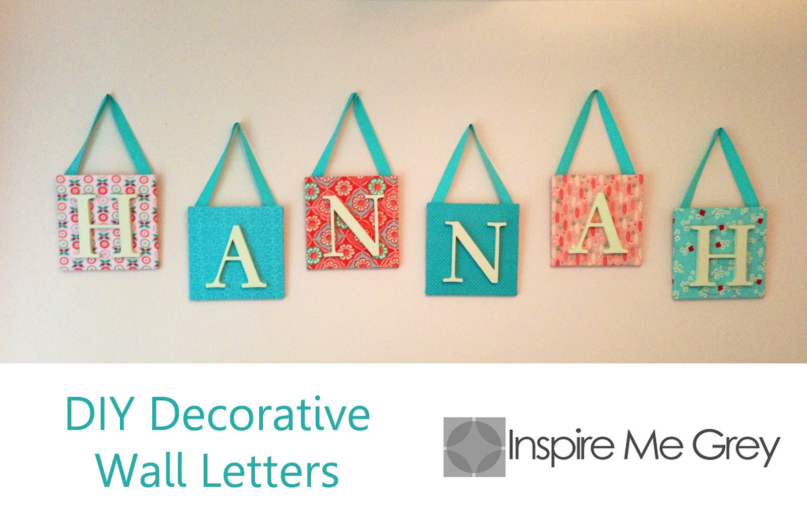 Best ideas about DIY Wall Letters . Save or Pin Inspire Me Grey DIY Decorative Wall Letters Now.