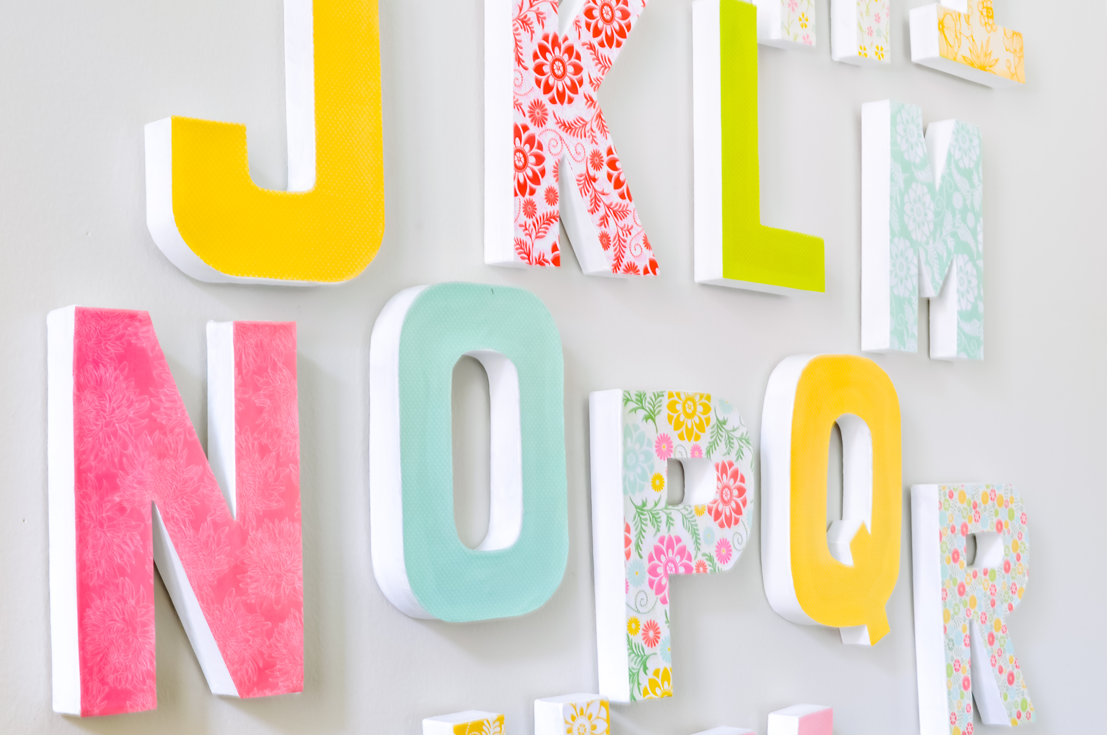 Best ideas about DIY Wall Letters . Save or Pin DIY LETTER WALL DECOR THE LOVE NERDS Now.
