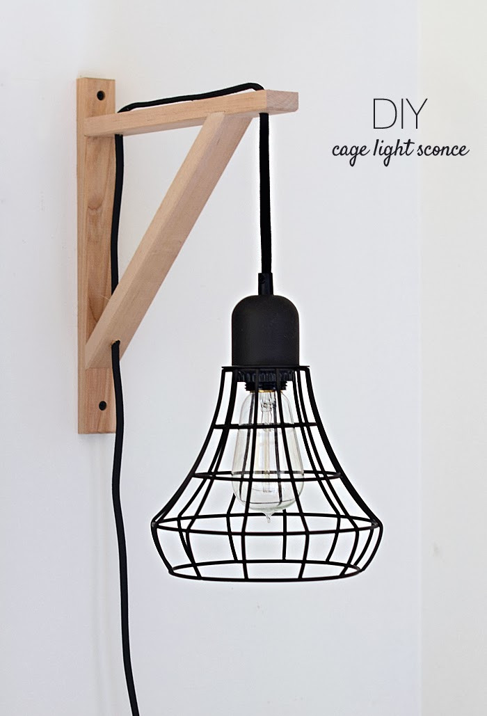 Best ideas about DIY Wall Light . Save or Pin Nalle s House DIY Cage Light Sconces Now.