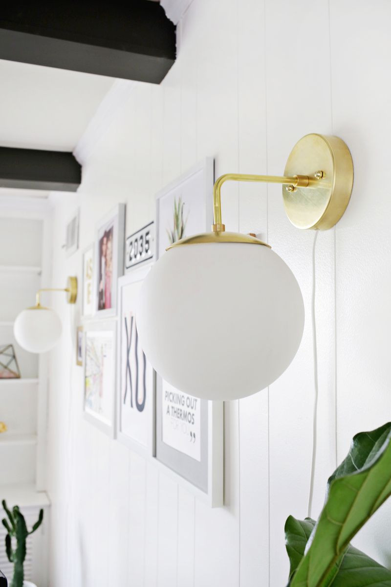 Best ideas about DIY Wall Light . Save or Pin Brass Globe Sconce DIY A Beautiful Mess Now.