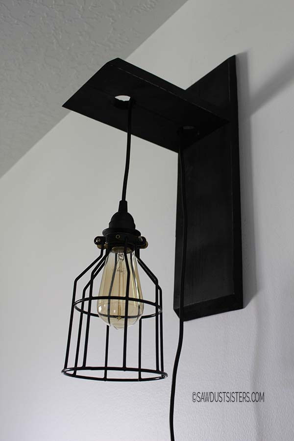 Best ideas about DIY Wall Light . Save or Pin DIY Custom Wall Sconce Sawdust Sisters Now.