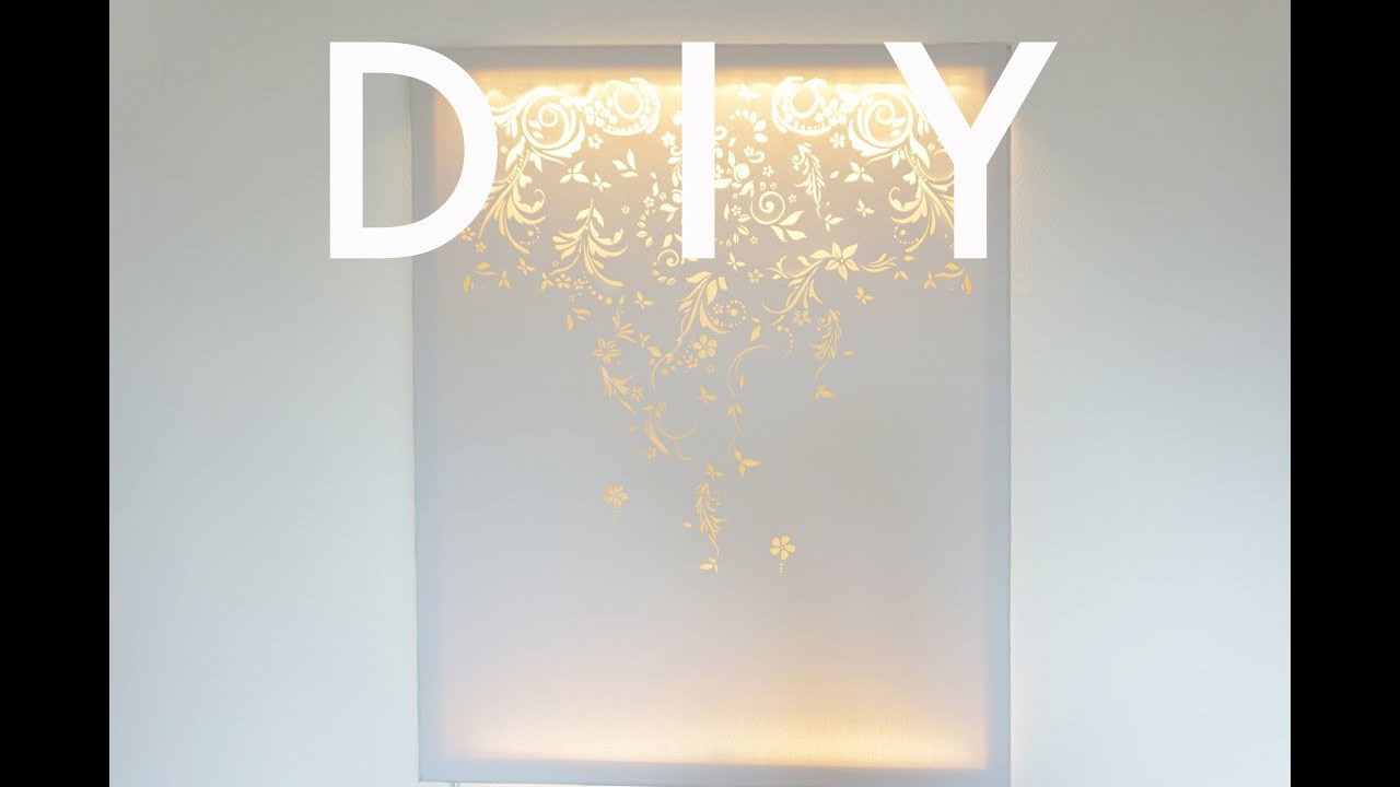 Best ideas about DIY Wall Light . Save or Pin DIY Canvas Wall Light Now.