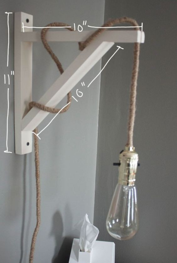 Best ideas about DIY Wall Light . Save or Pin 26 Industrial DIY Decor Ideas Now.