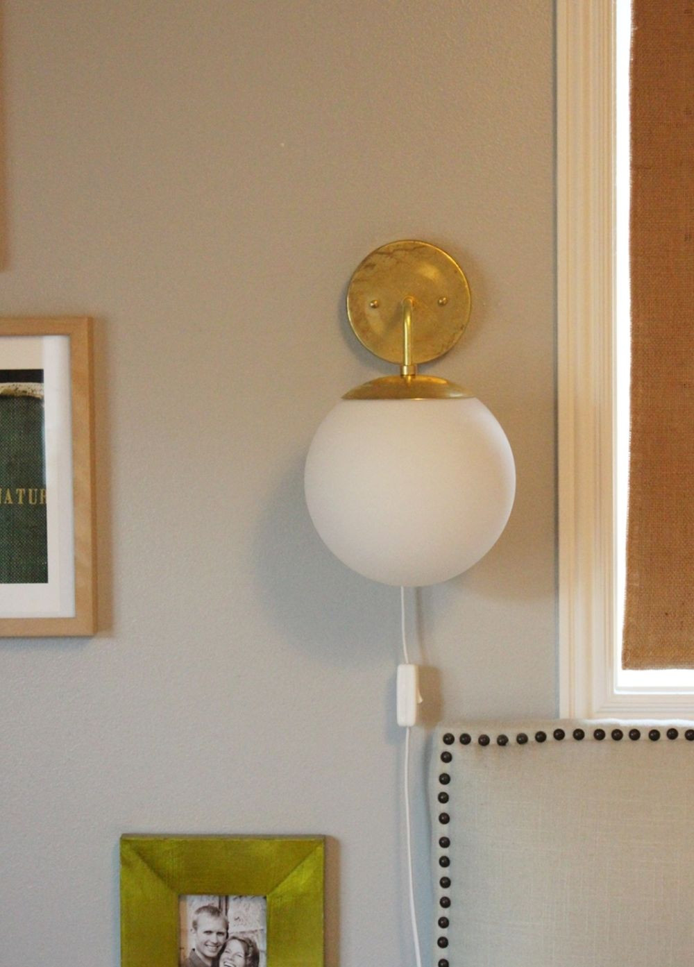 Best ideas about DIY Wall Light . Save or Pin DIY Globe Brass Wall Sconce Now.