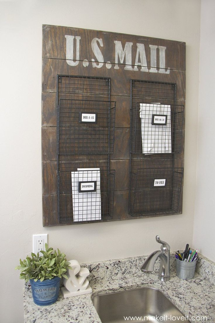 Best ideas about DIY Wall Mail Organizer . Save or Pin Best 25 Mail organizer wall ideas on Pinterest Now.