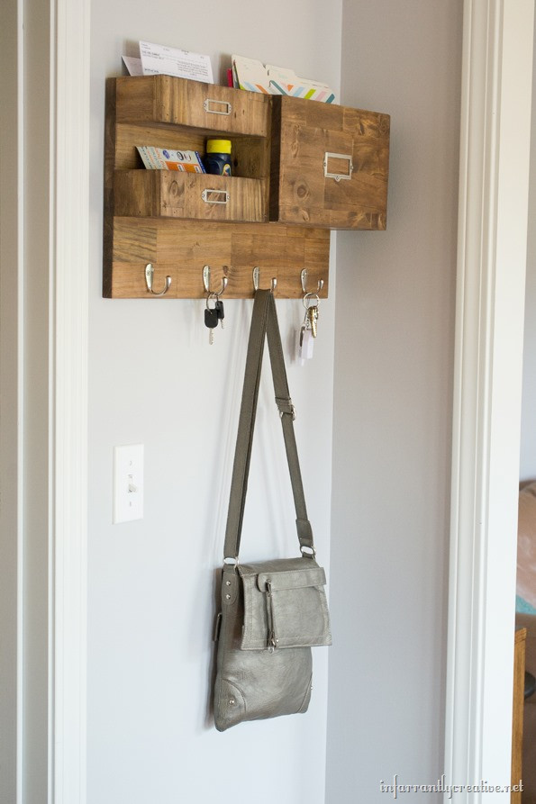 Best ideas about DIY Wall Mail Organizer . Save or Pin Wall Mail Organizer with Space for Keys Files and Bills Now.
