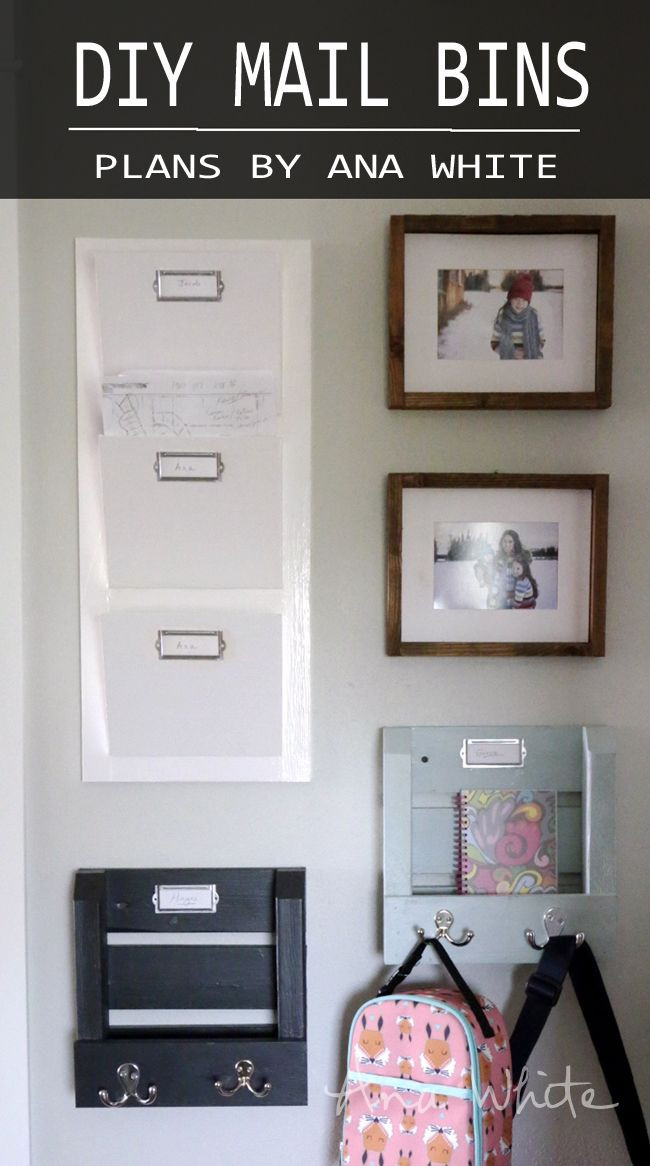 Best ideas about DIY Wall Mail Organizer . Save or Pin Make these magazine wall bins Ana White Now.