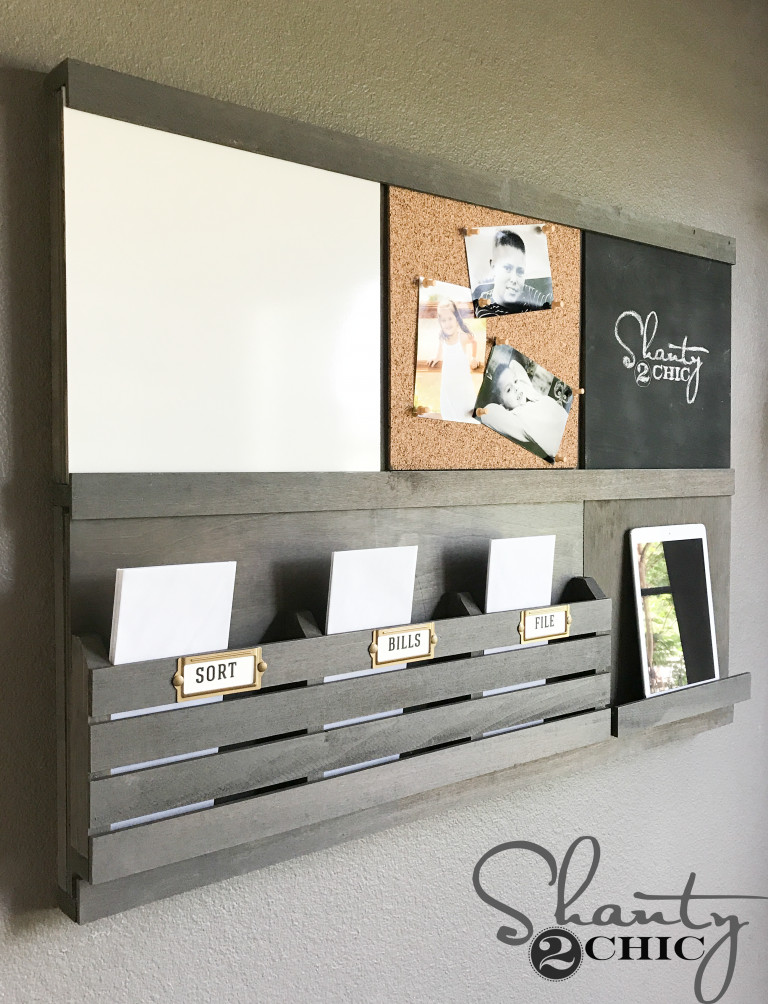 Best ideas about DIY Wall Mail Organizer . Save or Pin Custom DIY Wall Organizer With Sliding ponents Now.