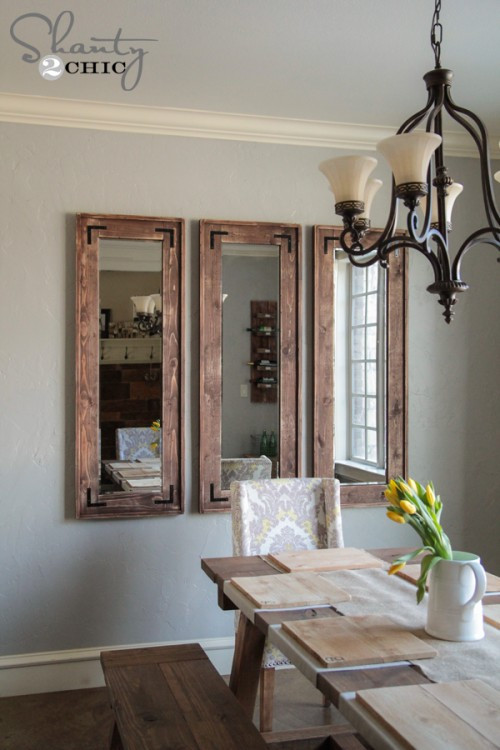 Best ideas about DIY Wall Mirrors . Save or Pin DIY Rustic Full Length Mirrors Shanty 2 Chic Now.