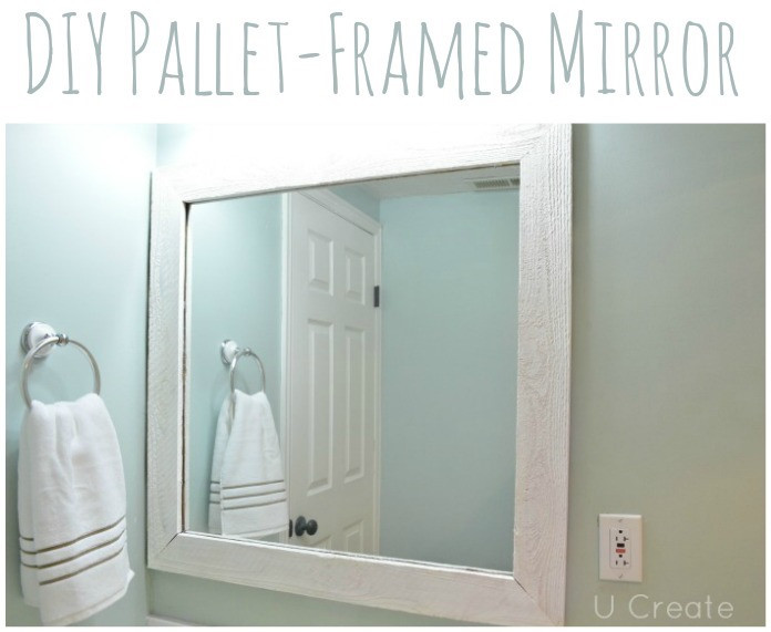 Best ideas about DIY Wall Mirrors . Save or Pin DIY Pallet Framed Mirror U Create Now.