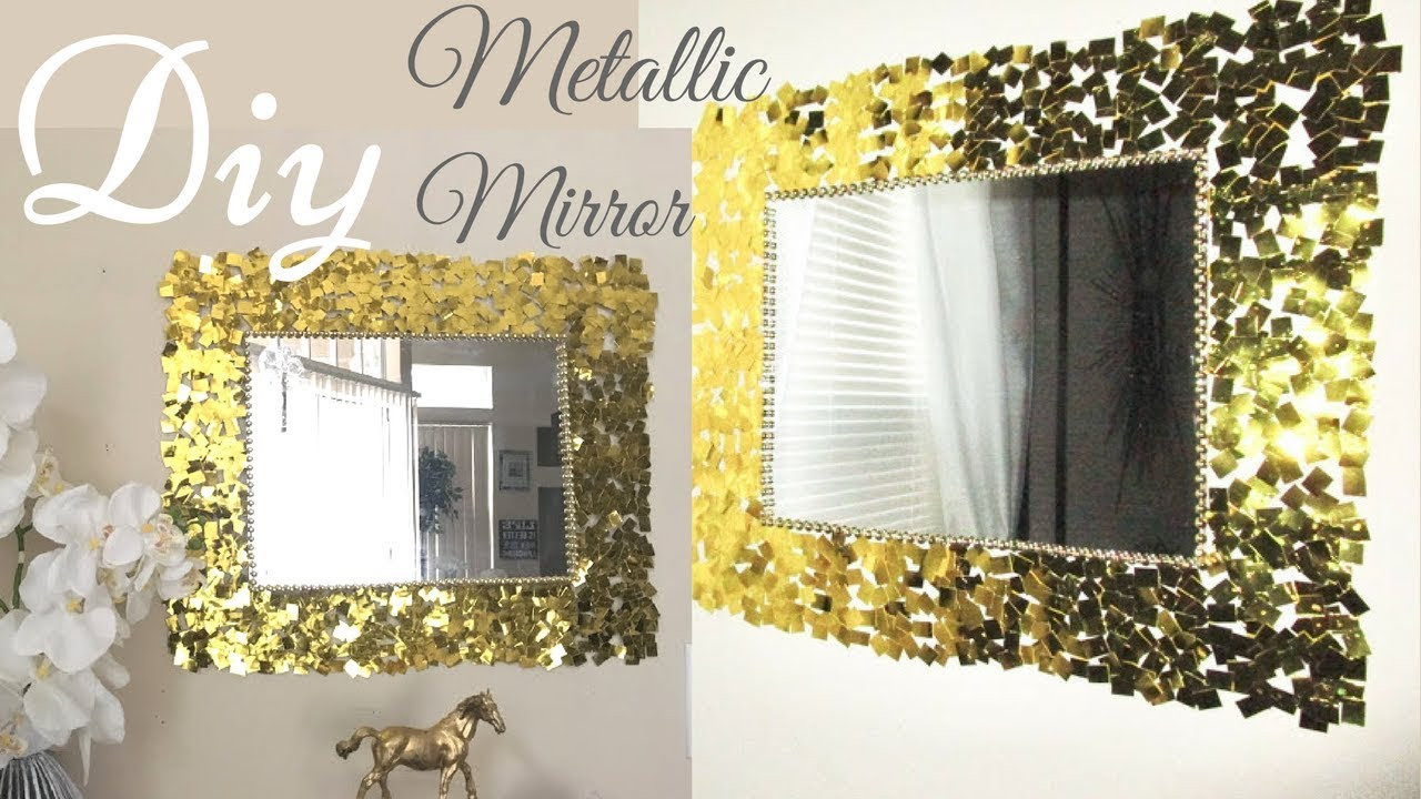Best ideas about DIY Wall Mirrors . Save or Pin Diy Metallic Gold Wall Mirror Decor Easy Craft Idea For Now.