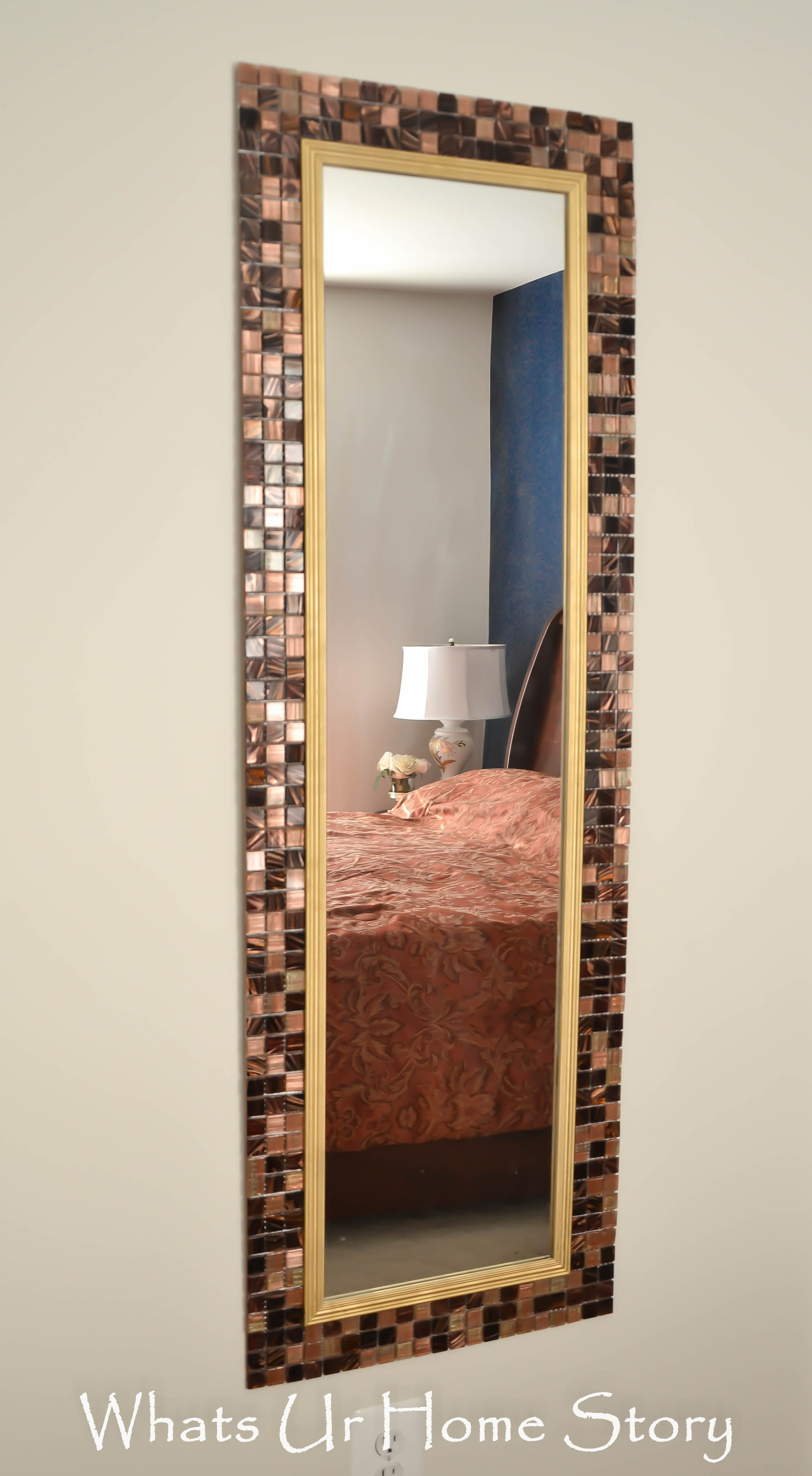 Best ideas about DIY Wall Mirrors . Save or Pin DIY Tile Mirror Now.