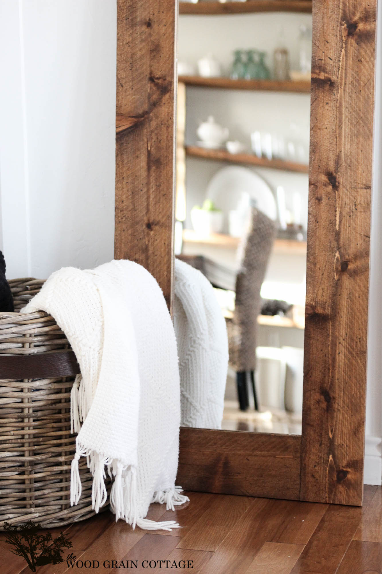 Best ideas about DIY Wall Mirrors . Save or Pin DIY Wood Framed Mirror The Wood Grain Cottage Now.