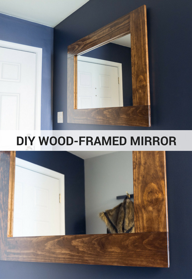 Best ideas about DIY Wall Mirrors . Save or Pin DIY Wood Framed Mirror Tutorial Now.