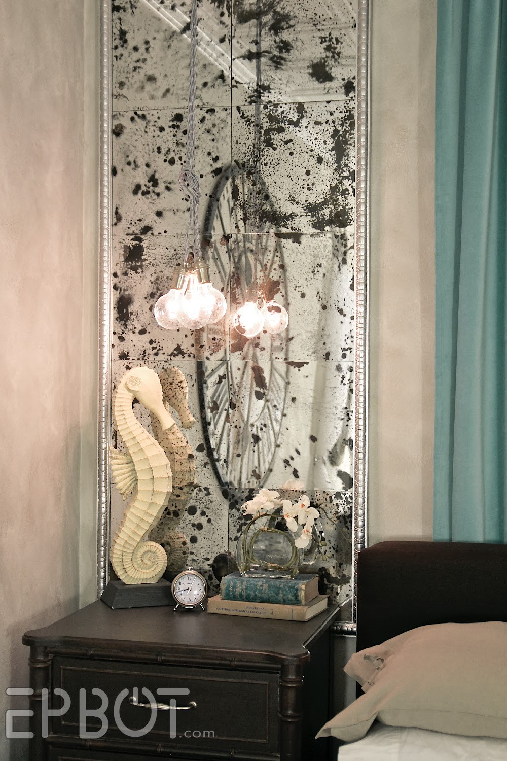 """Best ideas about DIY Wall Mirrors . Save or Pin EPBOT DIY Antiqued Mirror Wall Panels """"Fun With Now."""