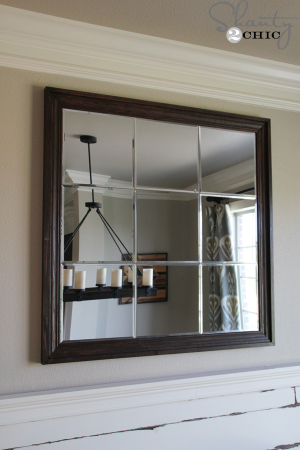 Best ideas about DIY Wall Mirrors . Save or Pin DIY Paneled Wall Mirror Shanty 2 Chic Now.