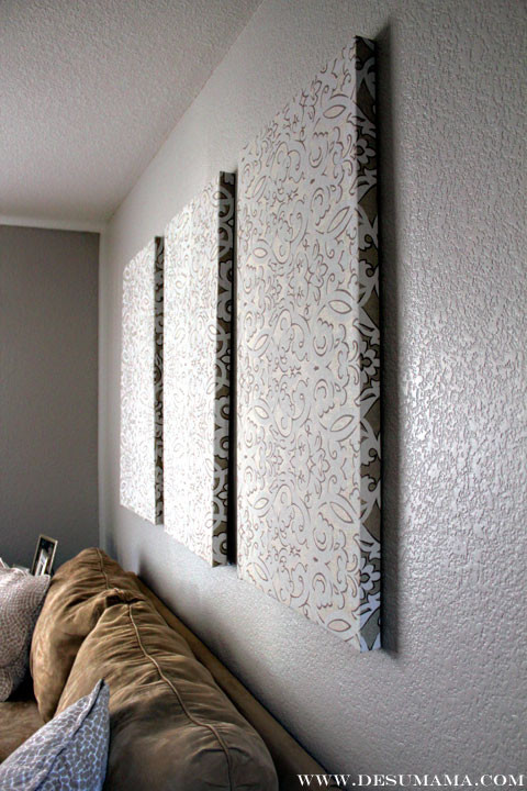 Best ideas about DIY Wall Panels . Save or Pin DIY Fabric Wall Panels De Su Mama Now.