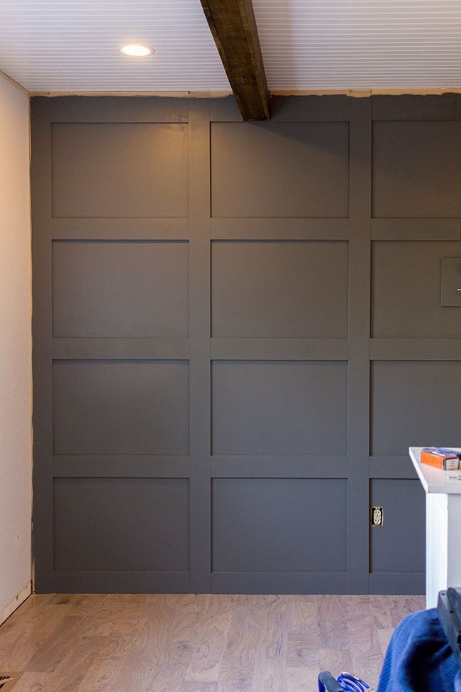 Best ideas about DIY Wall Panels . Save or Pin DIY Paneled Wall for under $100 covers textured wall too Now.