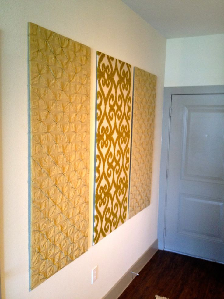 Best ideas about DIY Wall Panels . Save or Pin DIY upholstered wall panels for an entry hallway Now.