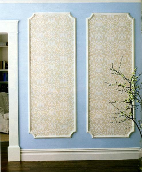 Best ideas about DIY Wall Panels . Save or Pin DIY Framed Wall Panels Using Beige Wallpaper Now.