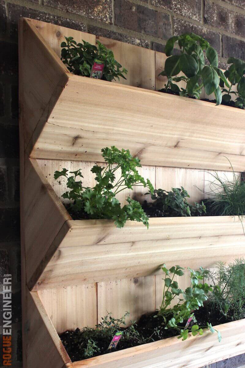 Best ideas about DIY Wall Planter . Save or Pin Cedar Wall Planter Free DIY Plans  Rogue Engineer Now.