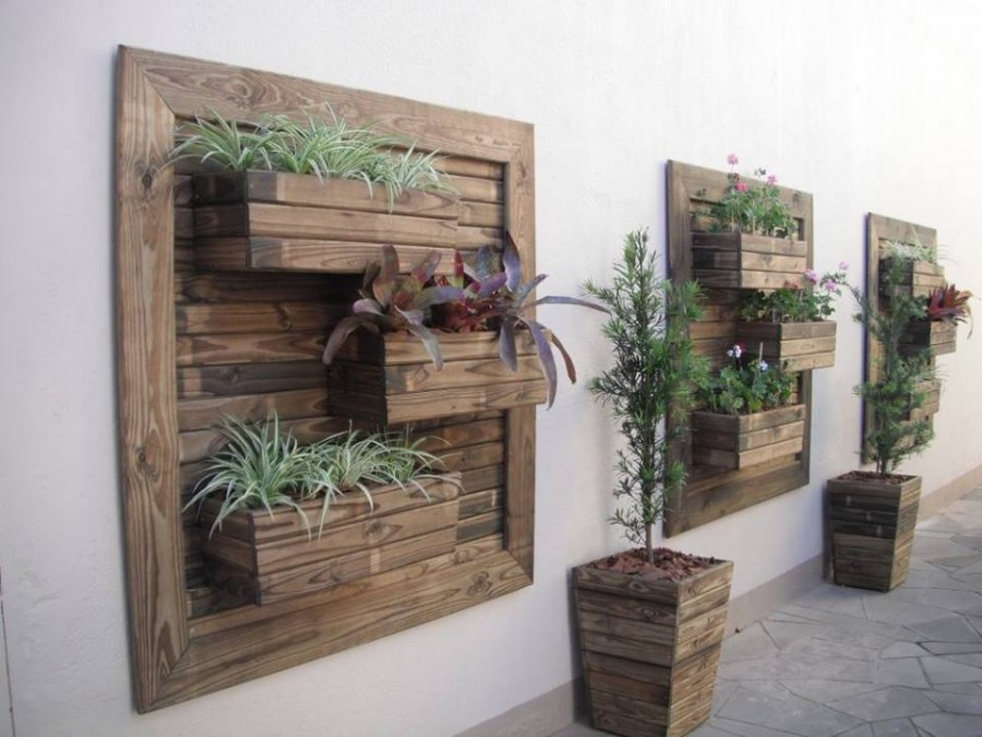 Best ideas about DIY Wall Planter . Save or Pin Think Green 20 Vertical Garden Ideas Now.