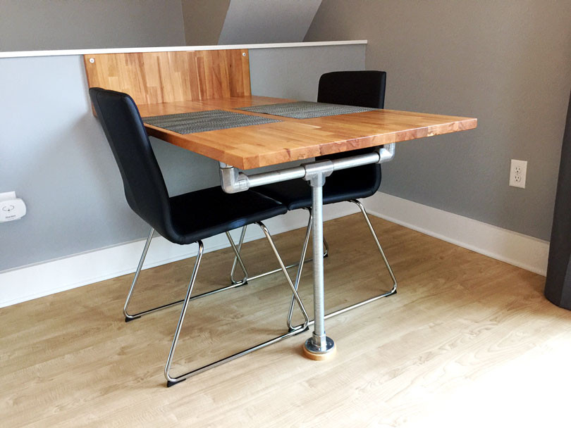 Best ideas about DIY Wall Table . Save or Pin DIY Ikea Wall & Floor Mounted Table with Step by Step Now.