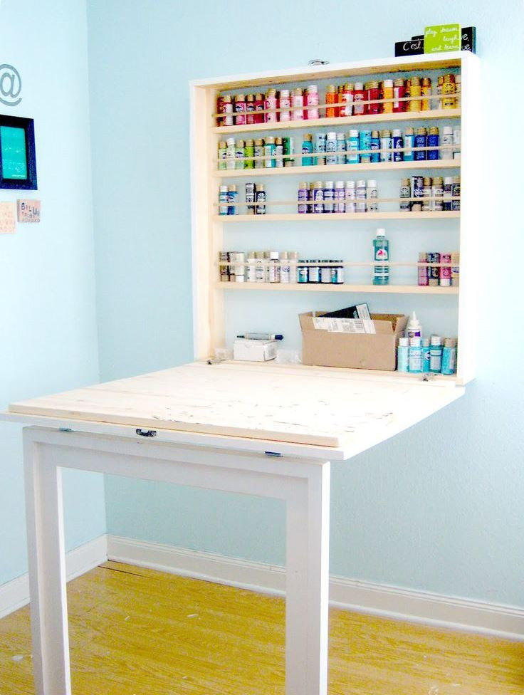 Best ideas about DIY Wall Table . Save or Pin 20 Space Saving Fold Down Desks Now.