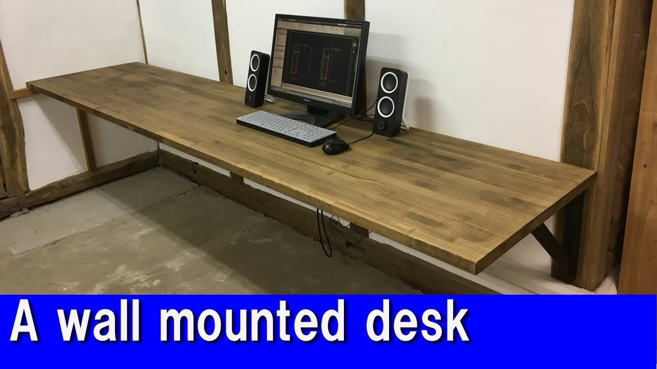 Best ideas about DIY Wall Table . Save or Pin [DIY] A wall mounted desk Now.