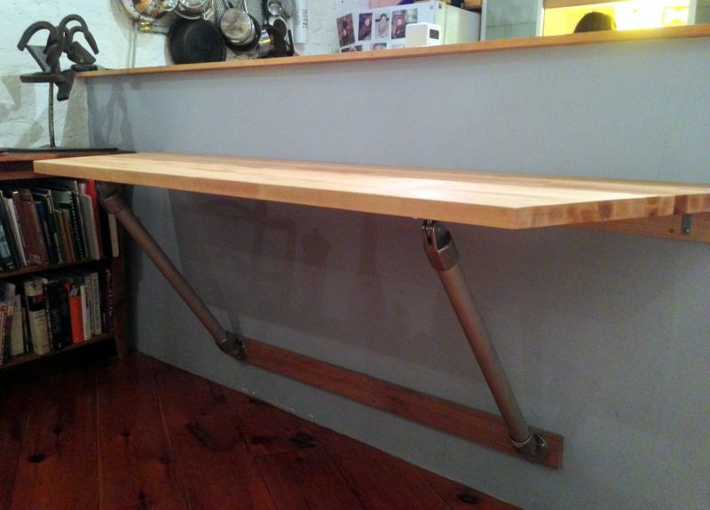 Best ideas about DIY Wall Table . Save or Pin Butch Block Wall Mounted Table RESIDE Now.