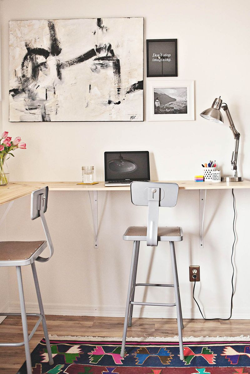Best ideas about DIY Wall Table . Save or Pin Building a Standing Desk – A Beautiful Mess Now.