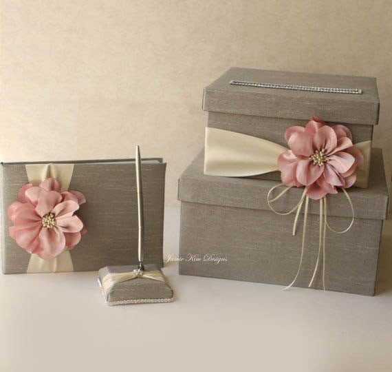 Best ideas about DIY Wedding Money Box . Save or Pin Wedding card box guest book and pen set Custom Made to Now.