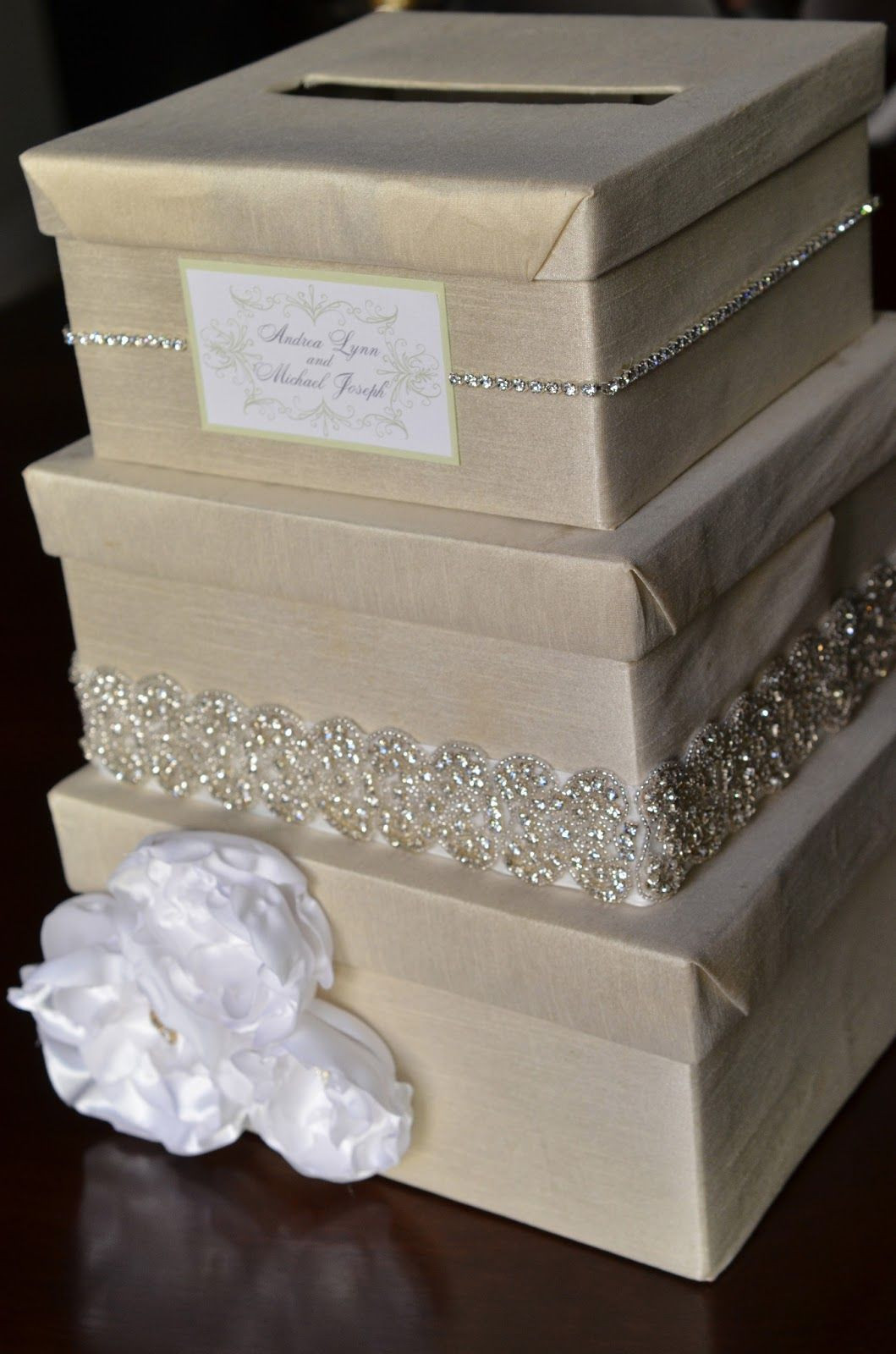 Best ideas about DIY Wedding Money Box . Save or Pin DIY Wedding Card Box I would do ivory and coral but Now.
