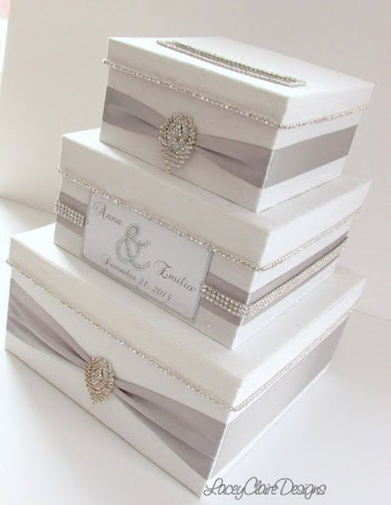 Best ideas about DIY Wedding Money Box . Save or Pin Wedding Card Box Bling Card Box Money Holder Box with Now.