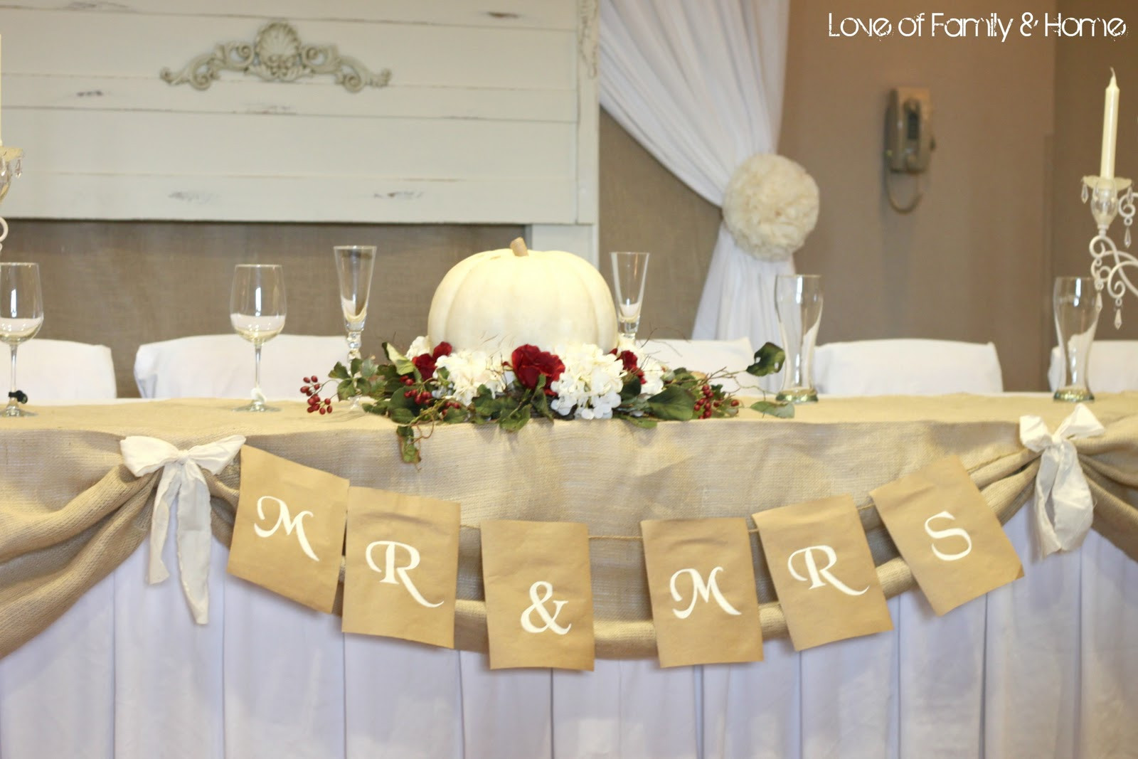 Best ideas about DIY Wedding Table Decorations . Save or Pin DIY Wedding Word Banners Love of Family & Home Now.