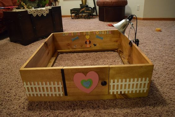 Best ideas about DIY Whelping Box . Save or Pin Breeding DIY Homemade Dogs Whelping birthing Box Now.